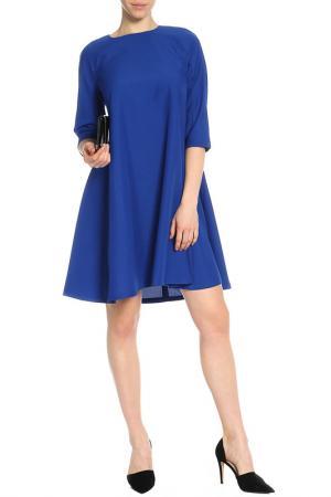 Яркое платье-трапеция Laura Bettini. Цвет: электрик