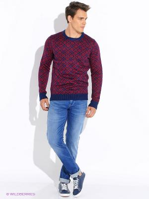 Джемпер Oodji. Цвет: красный, темно-синий