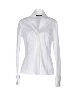Pубашка DONNA KARAN. Цвет: белый