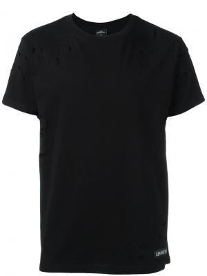 Рваная футболка Les (Art)Ists. Цвет: чёрный