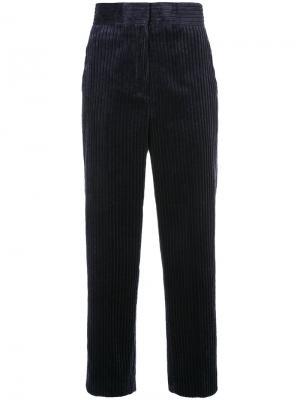 Укороченные брюки с завышенной талией H Beauty&Youth. Цвет: чёрный
