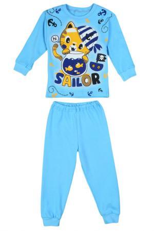 Пижама M&D. Цвет: голубой