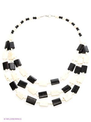Ожерелье ГАНГ. Цвет: черный, кремовый