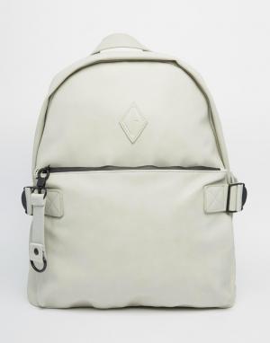 Dark Future Рюкзак из искусственного нубука с карманом спереди. Цвет: серый