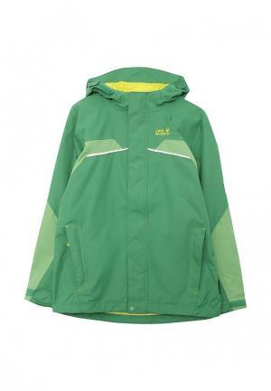 Куртка Jack Wolfskin. Цвет: зеленый