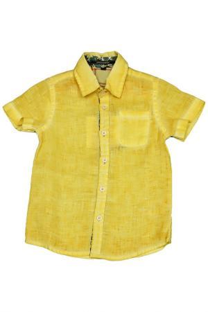 Рубашка ASTON MARTIN. Цвет: желтый