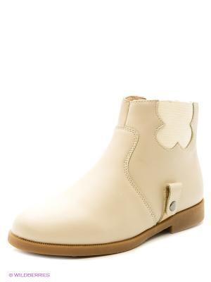 Ботинки Зебра. Цвет: бежевый