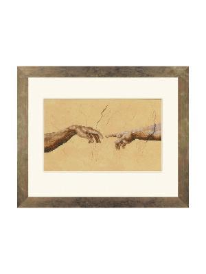 Набор для вышивания Schepping - 2 handen /Руки. Микеланджело/ 26*16см Vervaco. Цвет: коричневый, светло-коричневый
