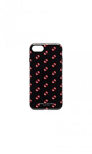 Чехол для iphone 7 monogram scream Marc Jacobs. Цвет: черный