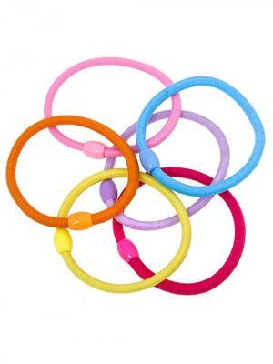 Набор резинок для волос City Flash. Цвет: желтый, голубой, розовый