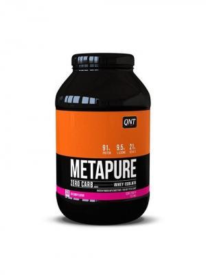 Протеин QNT  Metapure Zero Carb (красная конфета) 1 кг. Цвет: черный, белый, оранжевый
