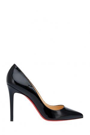 Туфли из лакированной кожи Pigalle 100 Christian Louboutin. Цвет: черный