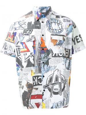 Рубашка с принтом Newspaper KTZ. Цвет: многоцветный