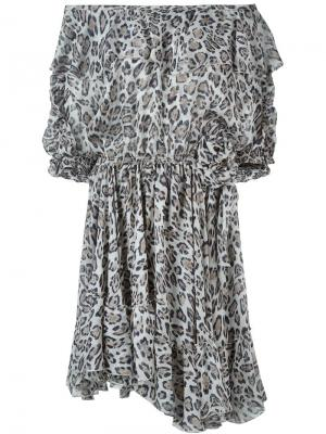 Платье с леопардовым принтом Faith Connexion. Цвет: многоцветный