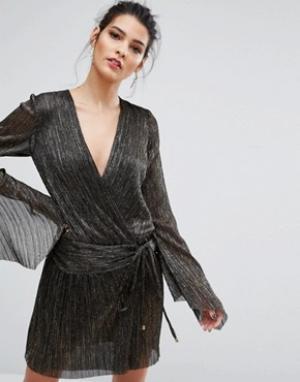 Bec & Bridge Платье с длинными рукавами Glitter Rain. Цвет: мульти