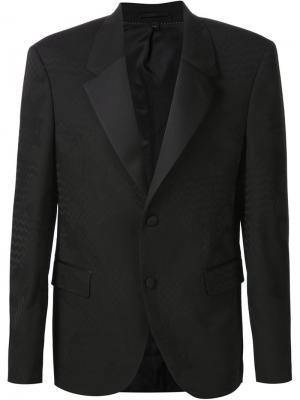 Жаккардовый пиджак с камуфляжным принтом Neil Barrett. Цвет: чёрный