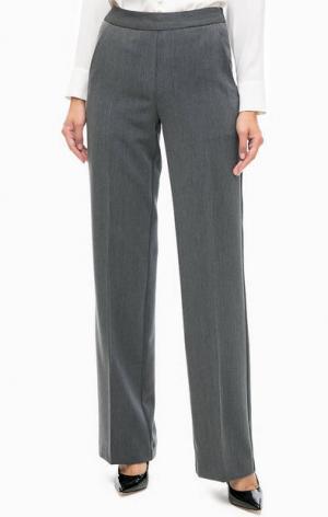 Классические серые брюки TRUCCO. Цвет: серый