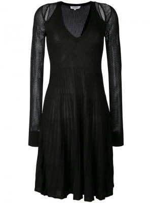Сетчатое платье с вырезными деталями Opening Ceremony. Цвет: чёрный