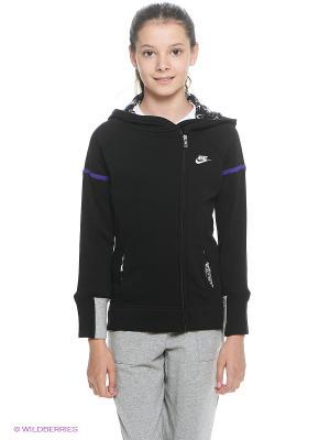 Толстовка SB FUTURA+ FZ HOODIE YTH Nike. Цвет: черный