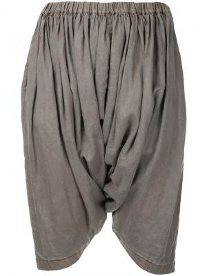 Укороченные брюки с драпировкой Comme Des Garçons. Цвет: коричневый