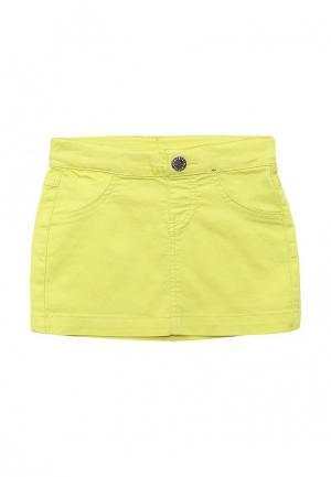 Юбка джинсовая United Colors of Benetton. Цвет: желтый