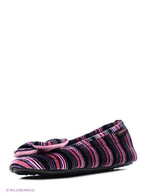 Тапочки Isotoner. Цвет: черный, серый, красный, розовый