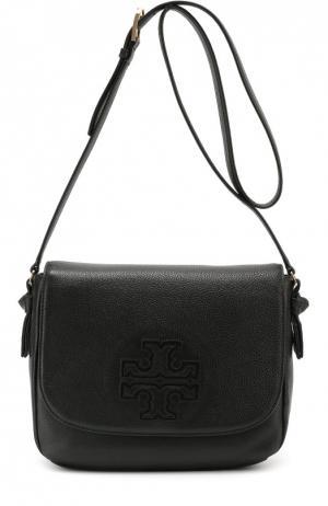 Кожаная сумка Harper Tory Burch. Цвет: черный