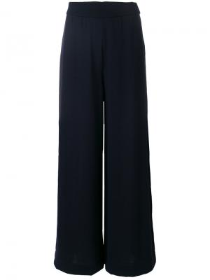 Широкие брюки Roberto Collina. Цвет: синий
