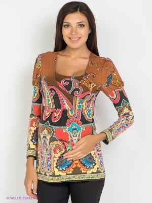Блуза 2 в 1 (для беременных и для кормления) Nuova Vita. Цвет: светло-коричневый, горчичный, терракотовый