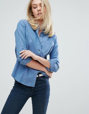 MiH Jeans Рубашка Sansel Minimal. Цвет: синий