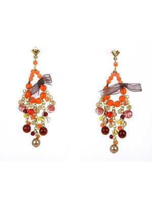 Серьги Bohemia Style. Цвет: оранжевый