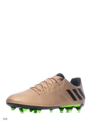 Футбольные бутсы (мяг.покр.) муж. MESSI 16.3 FG Adidas. Цвет: золотистый, салатовый