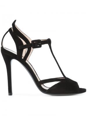 Туфли с открытым носком Olivier Theyskens. Цвет: чёрный