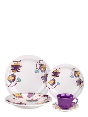 Набор столовый Мили Biona. Цвет: фиолетовый, белый