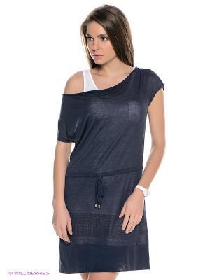 Платье Luhta. Цвет: темно-синий