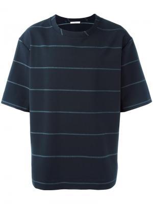 Полосатая футболка свободного кроя Lucio Vanotti. Цвет: синий