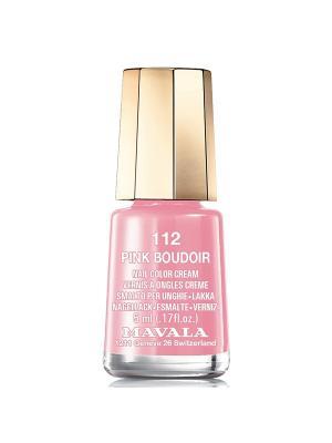 Лак для ногтей тон 112 Pink Boudoir Mavala. Цвет: розовый
