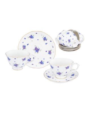 Чайный набор Сиреневый туман Elan Gallery. Цвет: белый,голубой,сиреневый