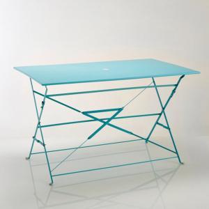 Стол прямоугольный складной из металла La Redoute Interieurs. Цвет: белый,бирюзовый