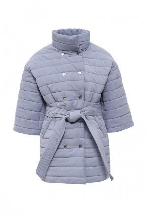 Куртка утепленная Tutto Bene. Цвет: голубой
