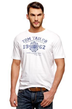 Футболка Tom Tailor 102354909102000. Цвет: белый