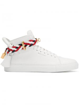 Braided strap sneakers Buscemi. Цвет: белый