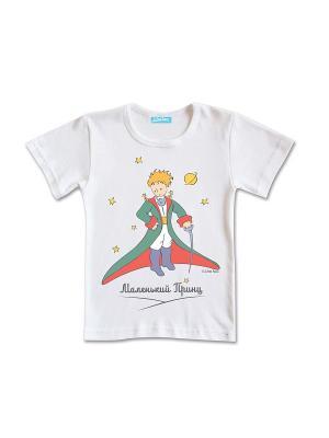 Футболка Маленький Принц со шпагой. Цвет: белый