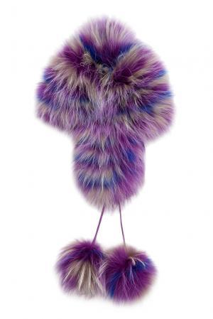 Головной убор из меха лисы и енота 139008 Igor Gulyaev. Цвет: разноцветный