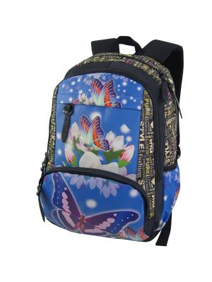 Портфель ученический Stelz. Цвет: голубой