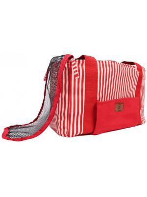 Пляжная сумка для собак с сеткой LION.. Цвет: красный
