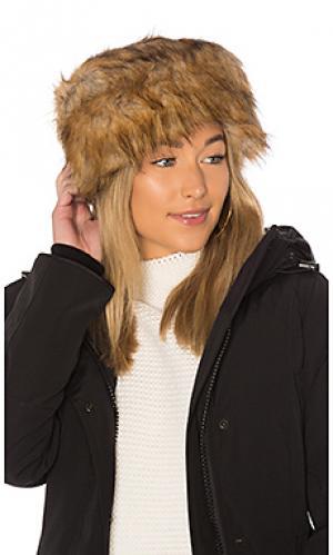 Шляпа faux fur Hat Attack. Цвет: коричневый