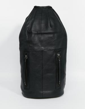 Becksondergaard Кожаный рюкзак. Цвет: черный