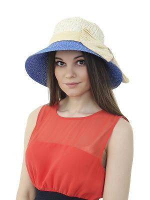 Шляпа Gusachi. Цвет: белый, синий, бежевый