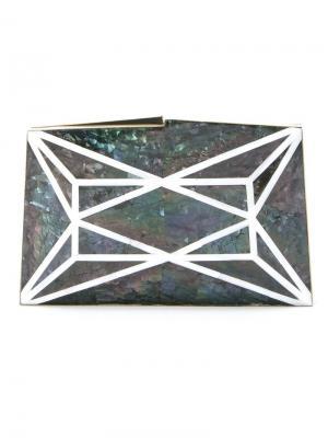 Перламутровый клатч Serpui. Цвет: синий
